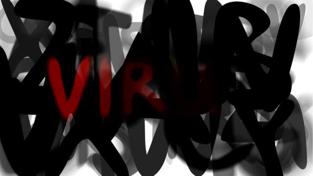 """virus: serie """"montage ihre nachricht"""" (endlosschleife) - multi layered effect stock-videos und b-roll-filmmaterial"""