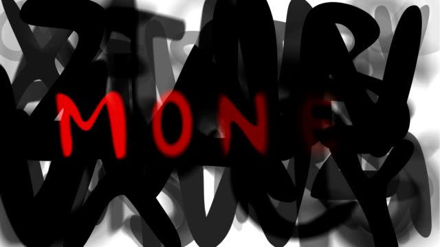 """geld: serie """"montage ihre nachricht"""" (endlosschleife) - multi layered effect stock-videos und b-roll-filmmaterial"""