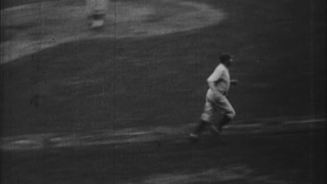 series of babe ruth homeruns from 1927 season / united states - home run stock-videos und b-roll-filmmaterial