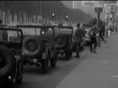series of shots of demonstrations against vietnam war in streets of chicago during the democratic national convention - sign stating welcome to... - 1968 stock videos & royalty-free footage