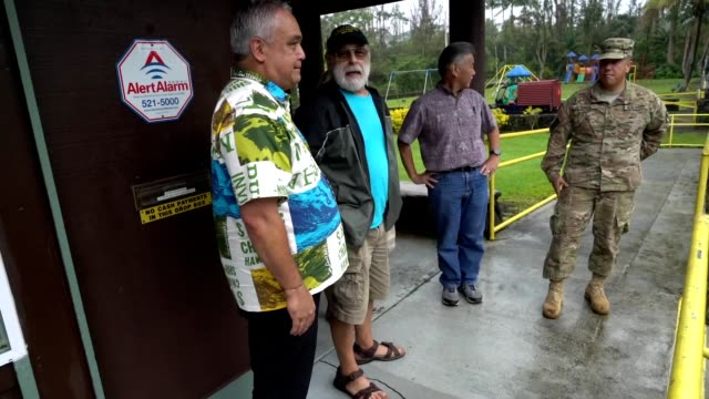 series of shots showing hawaiian governor david ige's ground tour following a volcanic outbreak on the big island of hawaii, including shots of ige... - big tech stock videos & royalty-free footage
