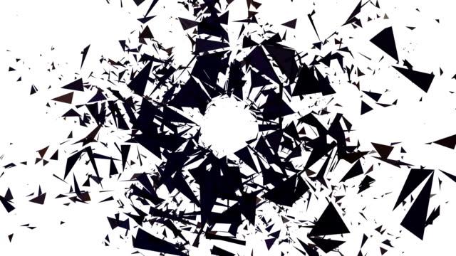 シリーズピュアフォーム生スター:borderless (ループ - changing form点の映像素材/bロール