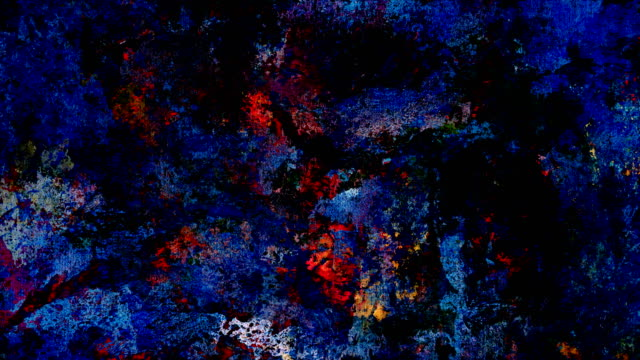 """series """"universe and indifferent"""" oilpainting seven twenty - colorful (loop) - tela di canapa video stock e b–roll"""
