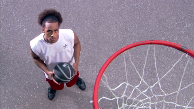 serious basketball player - see other clips from this shoot 1281 stock videos and b-roll footage