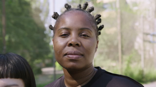 serious basketball player with bantu knots - team sport stock videos & royalty-free footage