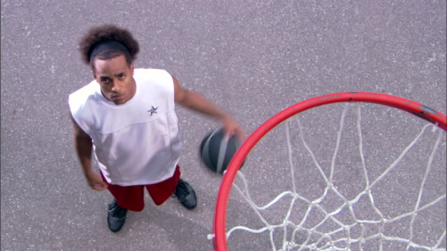 serious man dribbling basketball - see other clips from this shoot 1281 stock videos and b-roll footage