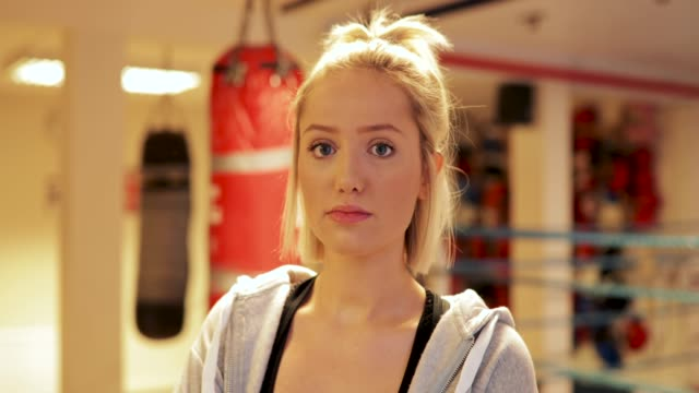 serious woman boxer - powerful stock videos and b-roll footage