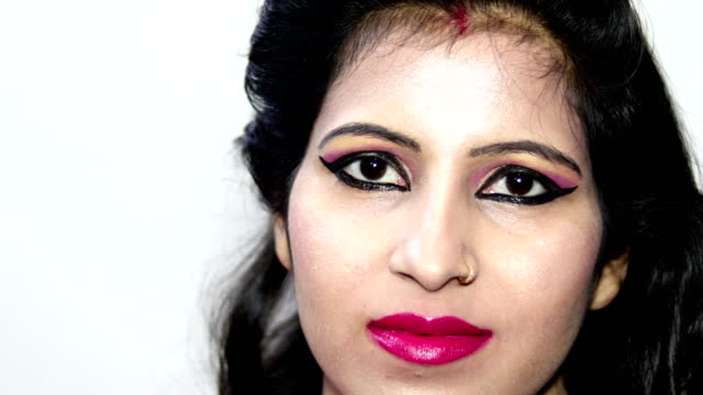serious young indian girl close up portrait - blank expression stock videos & royalty-free footage