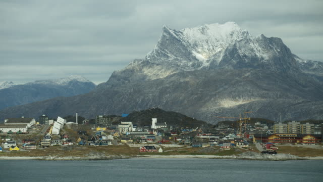 sermitsiaq mountain in nuuk greenland - greenland stock videos & royalty-free footage