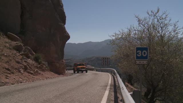 Serpentine road in sierra de la Nieves