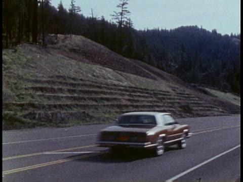 1978 WS serrations in hillside beside highway / United States