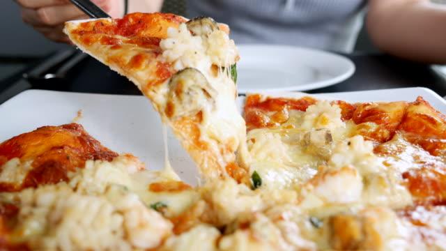 serve pizza - mozzarella stock videos & royalty-free footage