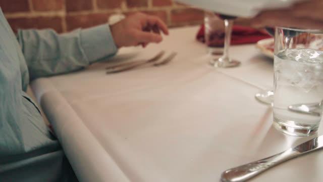 server brings gorgeous pasta dish - elegance stock videos & royalty-free footage