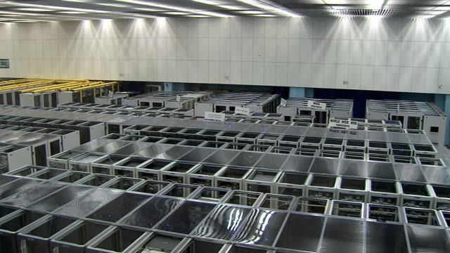 Server farm at CERN, the European Particle Physics laboratory near Geneva, Switzerland