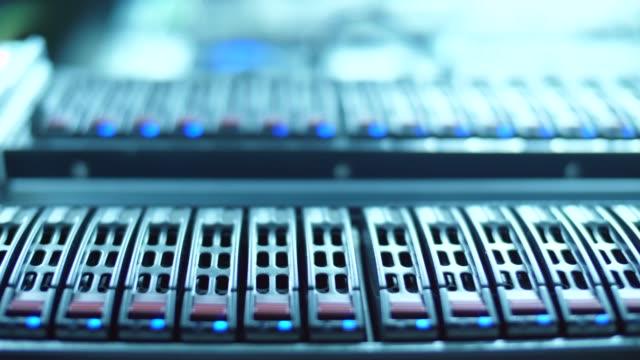 servers in datacenter. cloud computing data storage - data mining stock videos & royalty-free footage