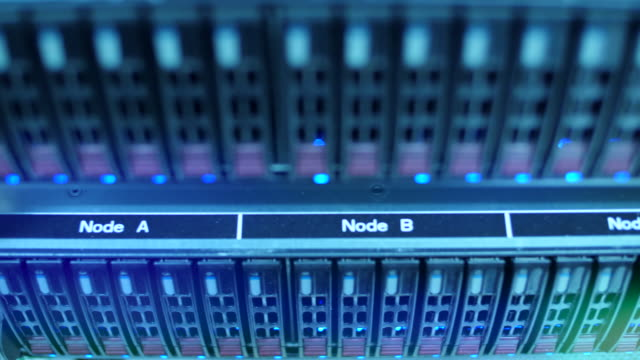 servers in datacenter - network server stock videos & royalty-free footage