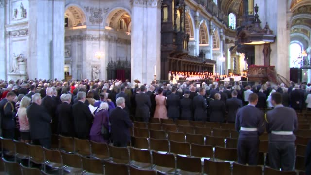 WWII Service marks 75th anniversary of Battle of Britain National anthem sung / people processing from cathedral