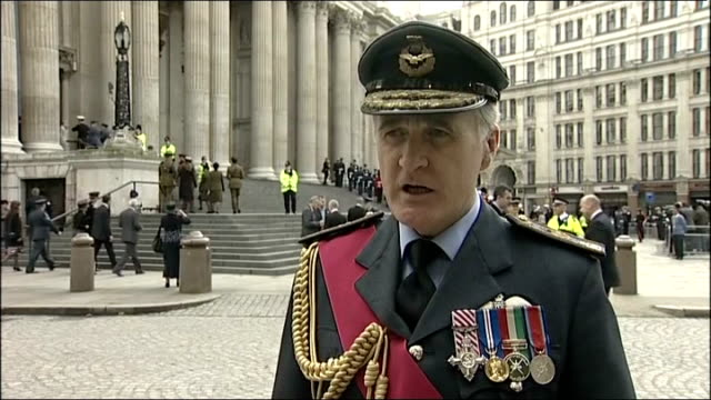 sir jock stirrup interview england london st paul's cathedral ext defence staff air chief marshal sir jock stirrup interview sot nearly 150 thousand... - weapons of mass destruction stock videos & royalty-free footage