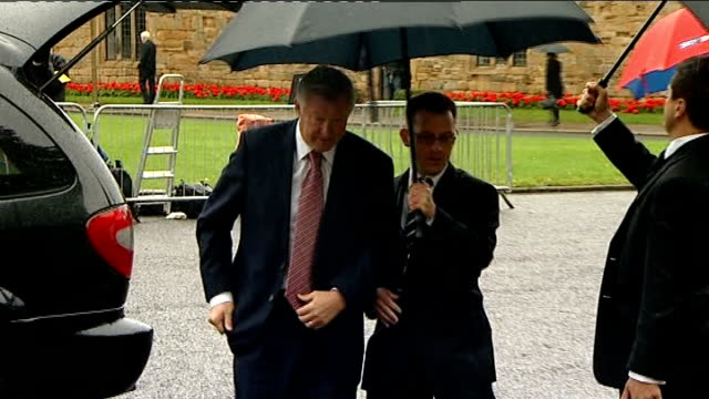 service of thanksgiving for sir bobby robson arrivals service and departures england county durham durham cathedral gary lineker arriving for... - religious service stock videos & royalty-free footage