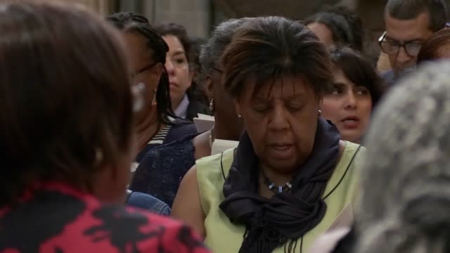 a service of thanksgiving is given in westminster abbey to mark 70th anniversary of the arrival of the ss windrush with the prime minister and the... - hmt empire windrush stock videos & royalty-free footage