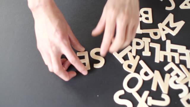 Service Spelled In wooden alphabet