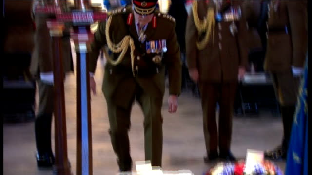 service to mark 70th anniversary of el alamein england london westminster abbey int major freddie salinger interview sot remember poor chaps cut off... - religious service stock videos & royalty-free footage