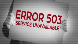 Service Unavailable 503 Error Stock Footage Video