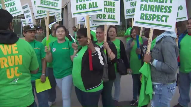 service workers strike in westwood - university of california stock videos & royalty-free footage
