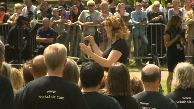 services held to mark 10th anniversary of 7/7 bombings alternative angle of hyde park service alternative angles of hyde park memorial service... - moderne rockmusik stock-videos und b-roll-filmmaterial