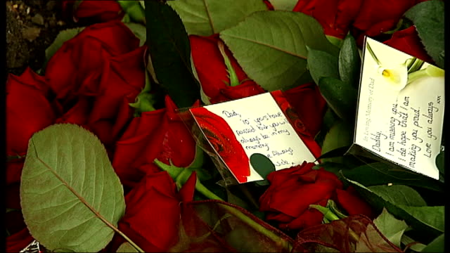 services held to mark the tenth anniversary of hatfield train crash memorial stone and plaque with floral tributes close shot roses with message on... - memorial plaque stock videos and b-roll footage