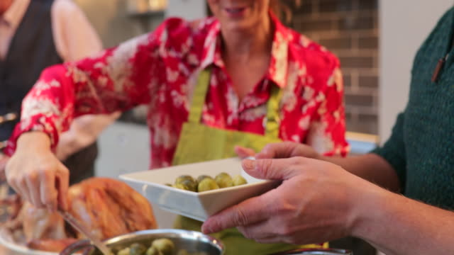 serving brussel sprouts - preparing food stock videos & royalty-free footage