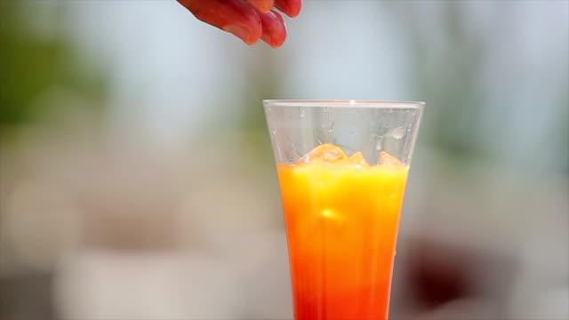 serving cocktail - orange stock videos & royalty-free footage