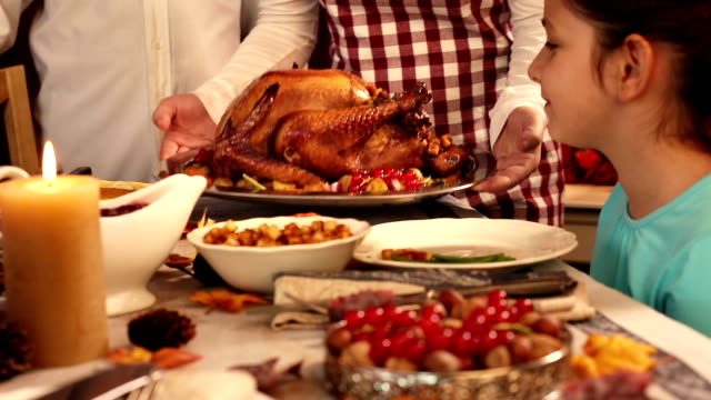serving thanksgiving turkey - roast dinner stock videos & royalty-free footage