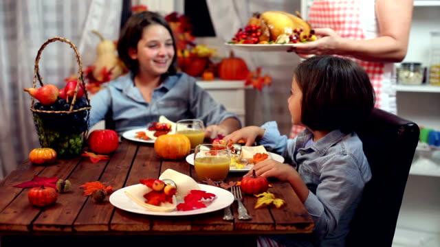 in der thanksgiving-truthahn - 6 11 months stock-videos und b-roll-filmmaterial