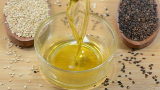 sesame oil - sesame stock videos and b-roll footage