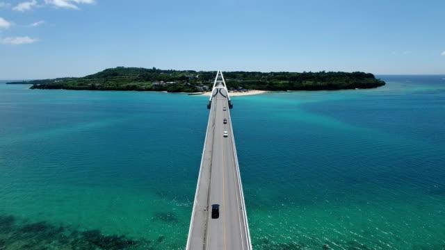 sesoko ohashi bridge in okinawa - okinawa prefecture stock videos & royalty-free footage
