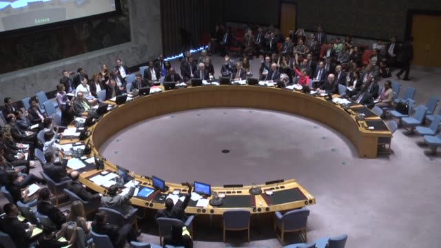 a session of united nations security council upon srebrenica massacre in new york united states on july 8 2015 russia vetoes srebrenica genocide... - yugoslav wars stock videos & royalty-free footage