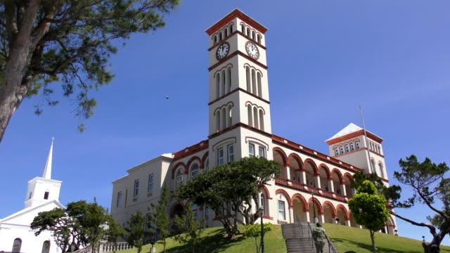 sessions house - hamilton, bermuda - bermuda stock videos & royalty-free footage