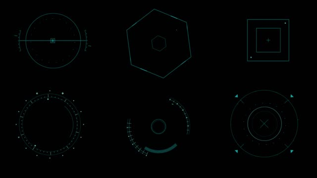 set animation graphic futuristic high tech hud elements for user interface.  (alpha apple prores) - graphical user interface stock videos & royalty-free footage