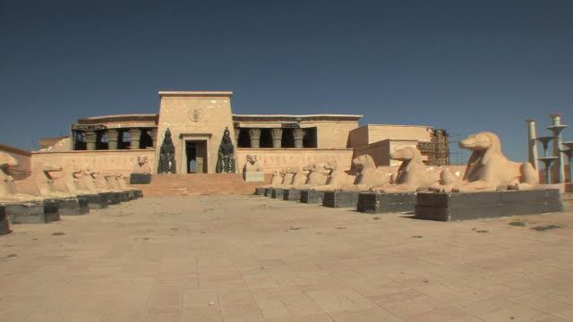 WS PAN Set for Cleopatra movie on back lot of Atlas Film Studios, Ouarzazate, Morocco