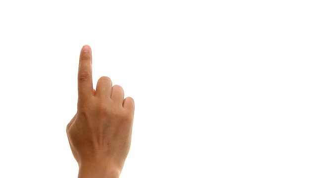 set of hand gestures - pointing stock videos & royalty-free footage