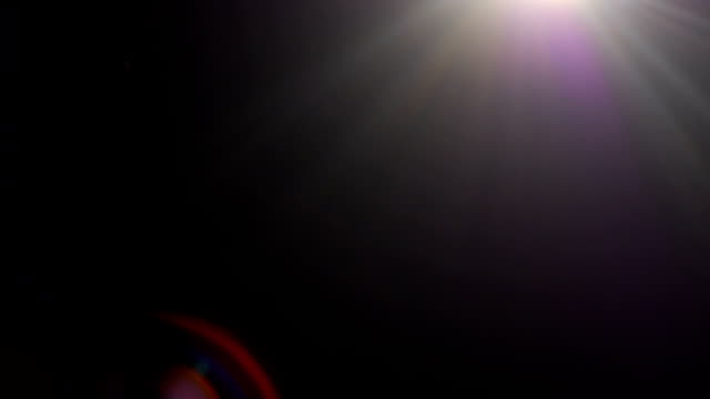 光のリーク黒い背景にフィルムの効果