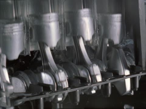 set of pistons turning - piston stock videos & royalty-free footage