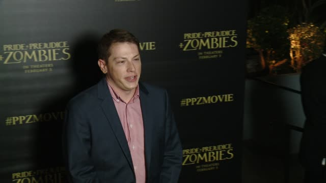 Seth GrahameSmith at the 'Pride And Prejudice And Zombies' Los Angeles Premiere at Harmony Gold Theater on January 21 2016 in Los Angeles California
