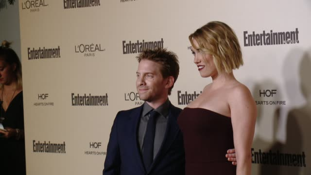 seth green and clare grant at entertainment weekly's preemmy celebration at fig olive melrose place on september 18 2015 in west hollywood california - entertainment weekly stock videos and b-roll footage