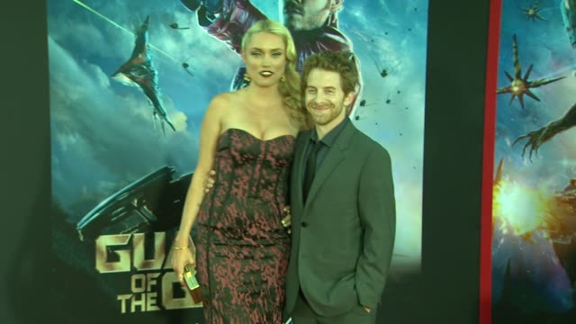 """seth green and clare grant at the """"guardians of the galaxy"""" world premiere at the el capitan theatre on july 21, 2014 in hollywood, california. - el capitan theatre stock videos & royalty-free footage"""