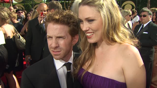 seth green on family guy's nomination experiencing the emmys at the 61st annual primetime emmy awards arrivals at los angeles ca - annual primetime emmy awards stock-videos und b-roll-filmmaterial