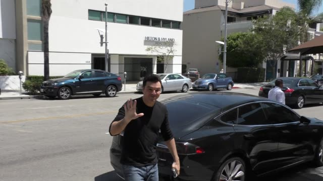 seth macfarlane arrives to the palm in beverly hills in celebrity sightings in los angeles - 2015 stock videos & royalty-free footage