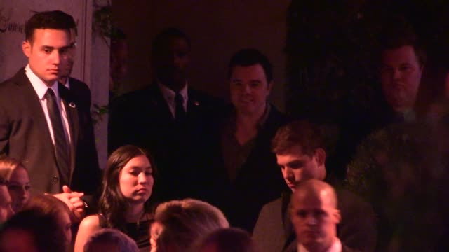 Seth MacFarlane departs the 2014 Golden Globes After Party at Sunset Tower in Los Angeles in Celebrity Sightings in Los Angeles