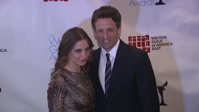 seth meyers alexi ashe at 2012 writer's guild east coast awards on in new york - alexi ashe stock videos and b-roll footage